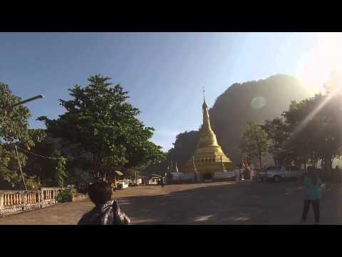 เจดีย์สวย วัดกินเจ อยูไกล้วัดเสาร้อยต้น เมืองพญาตองซู ประเทศพม่า
