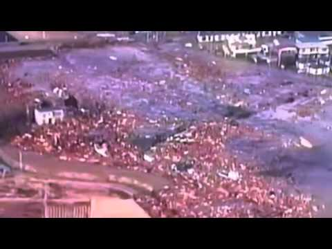 Japan 8.9 Earthquake & Tsunami 2011 - Wave Takes Out Everything