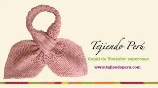 Bufanda gatito en dos agujas (Knitted neck scarf) Parte 1