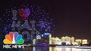 Illuminated Drones Create Spectacular Finale To Chinese Festival | NBC News - NBCNEWS