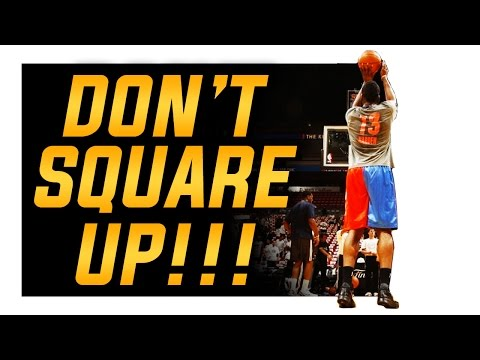 Basketball Shooting Form and Techniques: Do NOT Square Up!!!