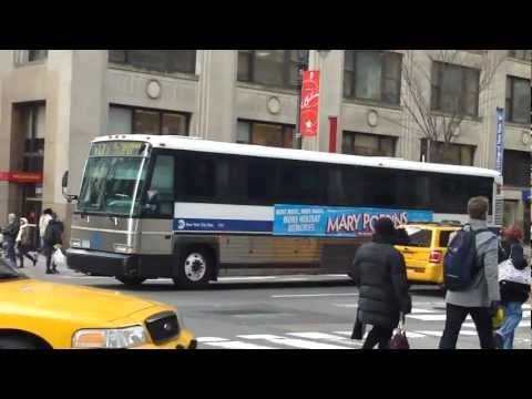 MTA: MCI DL3 D4500 D4500CL X17J X2 BxM3 Orion V VII Q32 & M1 Buses on Madison Ave (AM Rush Hour)