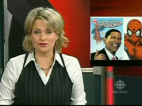 Barack Obama Spiderman Comic CBC Newscast featuring Rob Zedic & Myths, Legends & Heroes