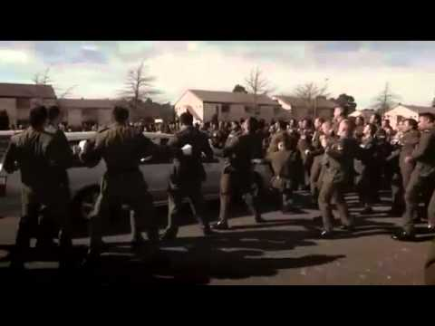 NZ Soldiers farewell comrades with funeral haka RIP
