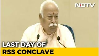 Nobody Is An Outsider In India, Says Mohan Bhagwat At Mega RSS Event - NDTV