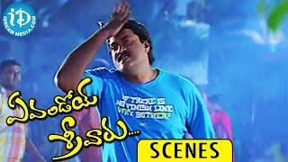 Evandoi Srivaru Movie Scenes    Rama Prabha, M S Narayana Funny Comedy Love Scene - IDREAMMOVIES