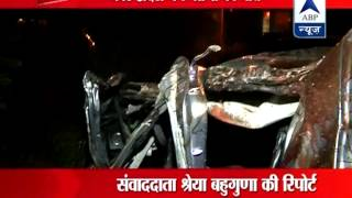 7 people died in an accident near Pari Chowk in Greater Noida late night - ABPNEWSTV
