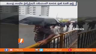 Footover Bridge Collapse at Andheri Railway Station Due To Heavy Rains | Mumbai | iNews - INEWS