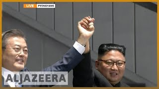 🇰🇵 Moon Jae-in and Kim Jong-un address 150,000 crowd | Al Jazeera - ALJAZEERAENGLISH