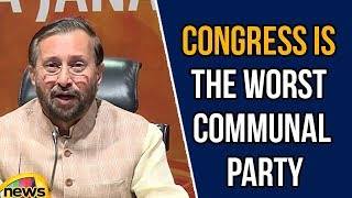 Prakash Javadekar says Congress Is The Worst Communal Party | Political News Updates | Mango News - MANGONEWS