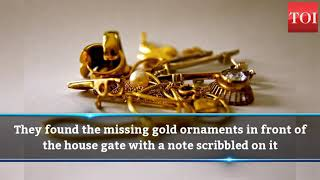 Kerala thief returns gold ornaments with an apology - TIMESOFINDIACHANNEL