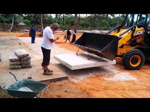 Zavala site construction stelcon plates