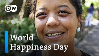 What makes you happy? | International Day of Happiness - DEUTSCHEWELLEENGLISH