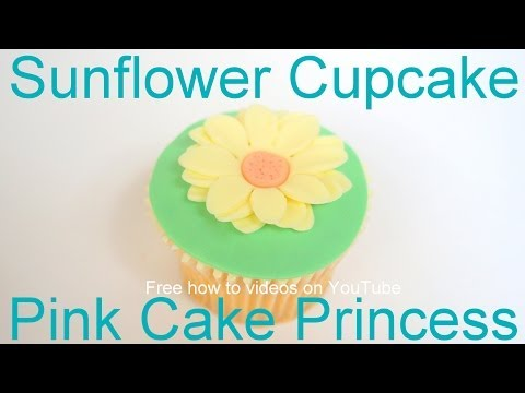 How to Make Easter Sunflower Cupcakes by Pink Cake Princess (Great as Mother's Day cupcakes too)