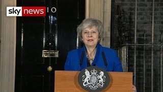 Theresa May speaks in Downing Street after winning no-confidence vote - SKYNEWS
