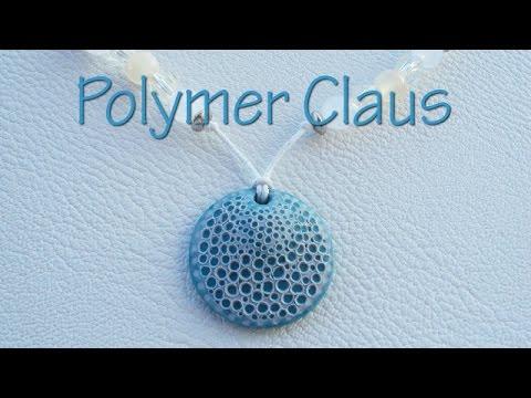 """Кулон """"Морская губка"""" из полимерной глины, ручной работы"""