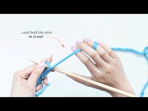How to Knit - Purl Stitch