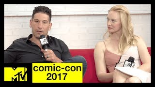 Jon Bernthal & Deborah Ann Woll on 'The Punisher' | Comic-Con 2017 | MTV - MTV