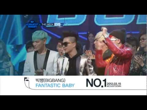 2012.03.15 This Week No.1 BIGBANG 'Fantastic Baby' @Mcountdown