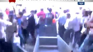 Ruckus at Churchgate station following Kejriwal's arrival - ABPNEWSTV
