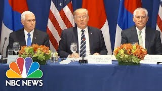 Trump Announces Expanded North Korea Sanctions: Tolerance 'Must End Now' | NBC News - NBCNEWS