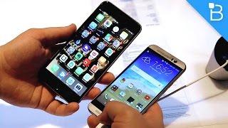 مقارنة قوية.. هاتف آبل آي فون 6 ضد إتش تي سي One M9