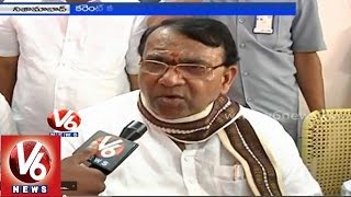 Agriculture Minister Pochara Srinivas alleges power crises is because of TDP & Congress parties - V6NEWSTELUGU