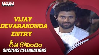 Vijay Devarakonda Entry @Geetha Govindam Success Celebrations - ADITYAMUSIC