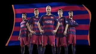 (فيديو) برشلونة يفجر مفاجأة في قميصه الجديد للموسم 2015-2016