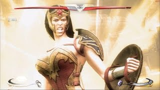 Injustice: Gods Among Us - Wonder Woman Ame-Comi Costume Classic Arcade Ladder Gameplay playthrough