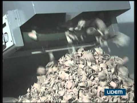 Cortadora trituradora para el corte y reciclaje de papel y cartón