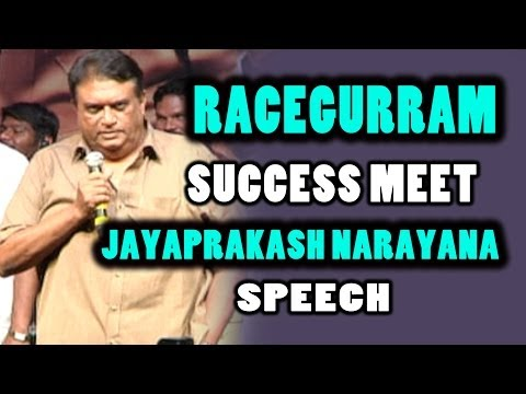Jayaprakash Narayana Speech @ Race Gurram Movie Success Meet