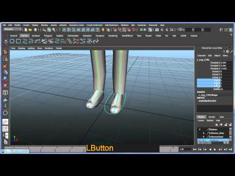 Basic bipedal character rigging setup in Maya - Part 3 of 7