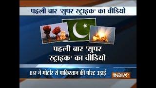 Border Security Force pounds Pakistan positions across international border with mortar shells - INDIATV