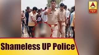 Hapur lynching: Picture of victim being dragged in front of cops goes viral, UP police apo - ABPNEWSTV