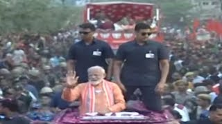 Full coverage of PM Modi's 6 km long roadshow in Varanasi - ABPNEWSTV