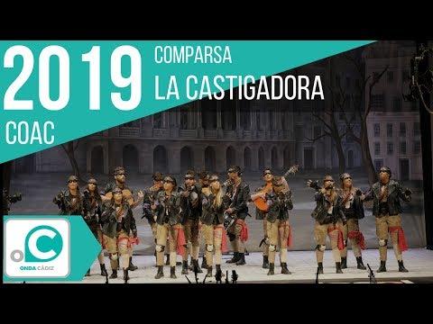 La agrupación La castigadora llega al COAC 2019 en la modalidad de Comparsas. En años anteriores (2018) concursaron en el Teatro Falla como Las noches de Cádiz, consiguiendo una clasificación en el concurso de Preliminares.
