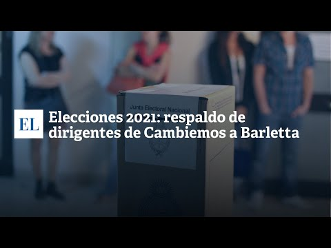 ELECCIONES 2021: RESPALDO DE DIRIGENTES DE CAMBIEMOS A BARLETTA