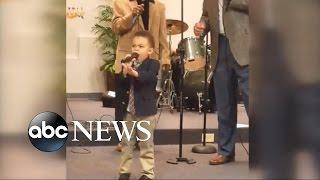 A Little Boy With a Big Voice Becomes a Viral Sensation - ABCNEWS
