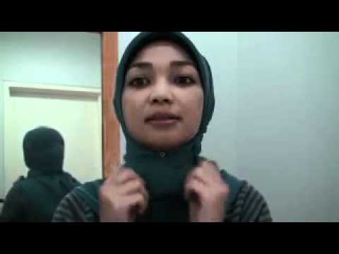 Cara Memakai Jilbab Segiempat - Tutorial Kerudung Pasmina Cantik