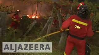 Portugal and Spain hit by deadly wildfires fueled by Hurricane Ophelia - ALJAZEERAENGLISH