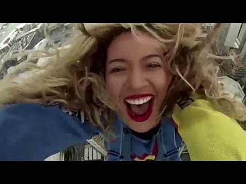 Beyonce jumps off of tallest building in New Zealand