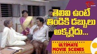 తెలివి ఉంటే తిడికి డబ్బులు అక్కర్లేదు.. | Ultimate Movie Scenes | TeluguOne - TELUGUONE
