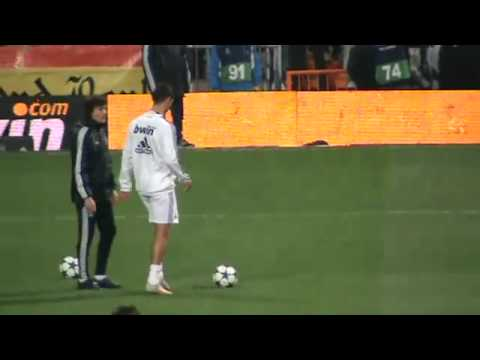 Cristiano Ronaldo warming up before a game Home
