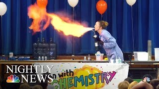 Teacher Makes Chemistry Fun With Exploding Experiments | NBC Nightly News - NBCNEWS
