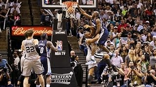 Quincy Pondexter Dunks On Boris Diaw's Head