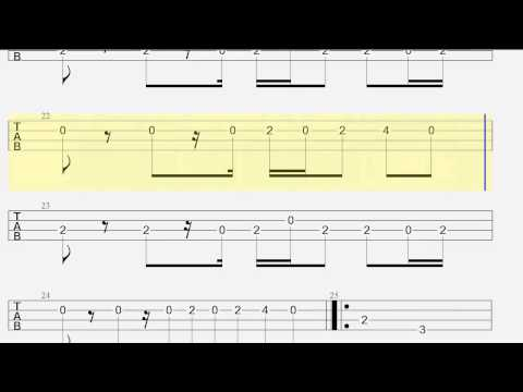Bass Tab - Wake Me Up - How to Play - Melody