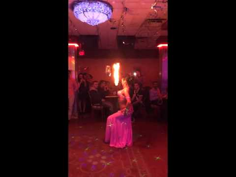 Jamilah's belly dance fire sword