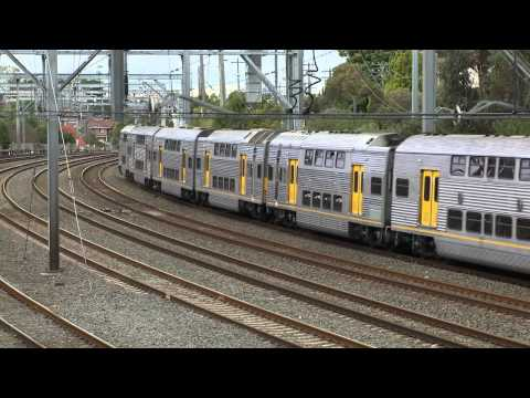 Sydney Cityrail trains at Burwood - Australian passenger trains - part 2