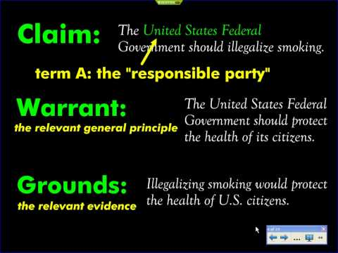smoking ban toulmin essay